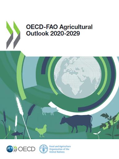 Světová produkce masa ve3.dekádě 21.století podle OECD-FAO
